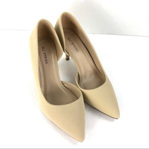 Call It Spring Tan Nude Heels Size 8